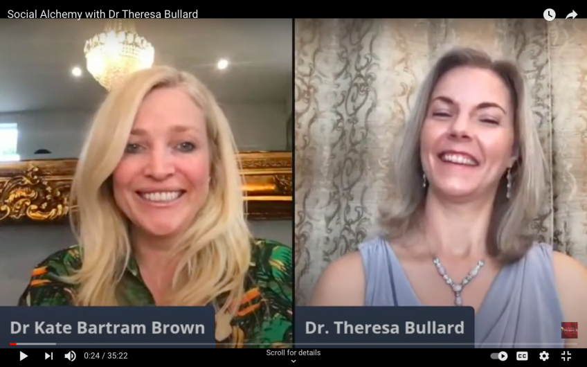 Social Alchemy with Dr Theresa Bullard. Interviewed by Dr Kate Bartram Brown